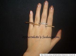 Ring Streifen Spitzen Farbe Gold Silber Oben Offen Damenschmuck