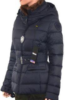 USA Damen Daunenjacke Jacke BLD0338 000939 880 Kapuze Echtpelz L blau