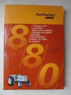 FIAT   Trattori   Traktor Typ 880 + 880 DT Allrad Ersatzteilliste