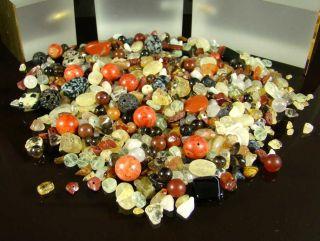 Edelstein Mix Lot   Über 360 Schmucksteine mit ca. 875 Carat