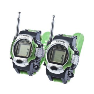 Portable Analog Digital Wrist Watch Walkie Talkie Toy for Children