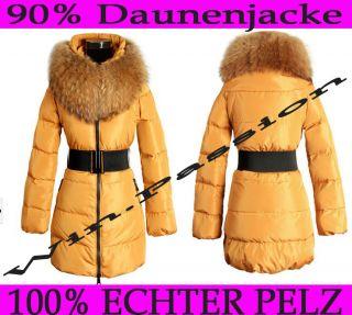 100% echter Pelz DAMEN WINTER JACKE STEPP Daunen D.G Down Parkas