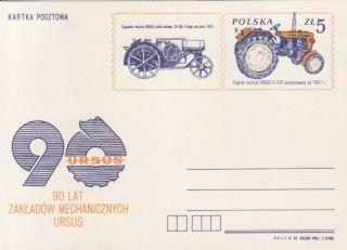 Polen Ganzsache Nr. P 874 ** Traktor Ursus C 330
