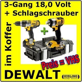 Schlagbohrschrauber DCD 985 M2K + Schlagschrauber DCF 880 4,0 DS 150