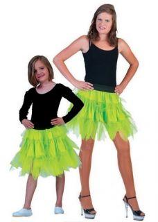 Petticoat Rock Mädchen Neon Grün zum Show Fifties Tanzkleid Kostüm