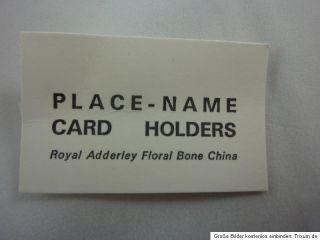 Porzellanblumen Platzkartenhalter Royal Adderley Floral Bone China