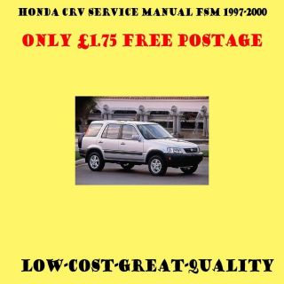 1997 2000 Honda CR V Service Manual £1.75