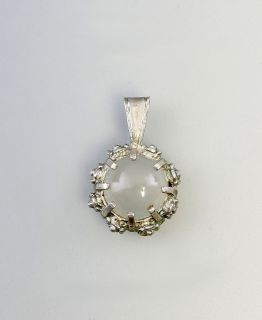 Paar Ohrringe, Anhänger und Ring Mondstein 875er Silber 9926454