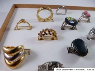 modeschmuck schmuck ring silber gold farbe konvolut bastler