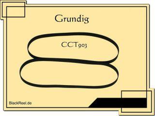 Grundig CCT 903 Riemen rubber belts Cassette Tape Deck