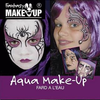 Fantasy Aqua Make Up Spinne + Anleitung ~Karneval~NEU