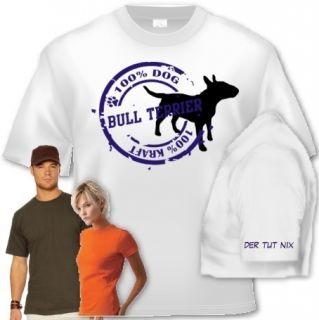 Shirt Hund Bull Terrier Stamp Shirt bedruckt 2 farbig