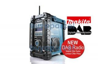 Makita Site DIGITAL Radio BMR101 DAB BLUE 240V 9.6 24v