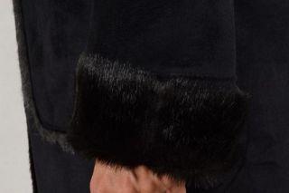 Mantel Armani Jeans Eco Ledder Damen Schwarz S5L10 Gr. 44 46 Rabat  30