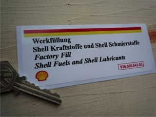 PORSCHE 911 fan shroud original Shell oil fill sticker