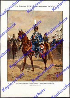 König Umberto I. Italien Uniform Hessen Husaren Rgt.13 Bockenheim