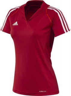adidas T12 Team ClimaCool Polo Damen rot X13846, Polo Shirt, T Shirt