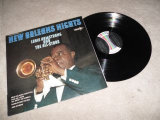 Louis Armstrong And The All Stars New Orleans Nights LP Album Cops