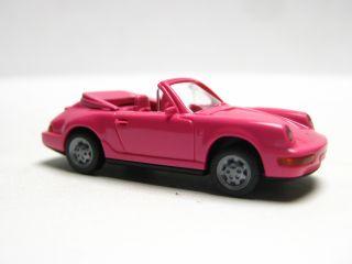 Wiking 165 1 C Porsche 911 Carrera 4 Cabriolet pink