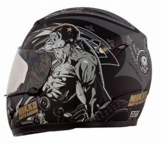 Motorradhelm Motorrad Helm Matt Schwarz Gold Gr. S   XL