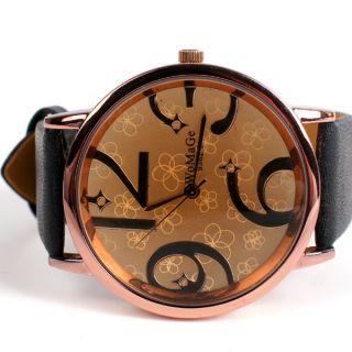 Elegant Romantic Big Dial Decorative Watch Wristwatch Girl Lady Women