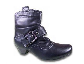 Damen Stiefeletten gef. Leder Optik Neu Stiefel Boots Cowboystiefel @