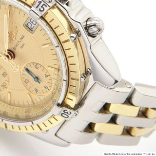 BREITLING CHRONOMAT & box & papers CHRONOGRAPH Stahl/18K Gold, Ref. D