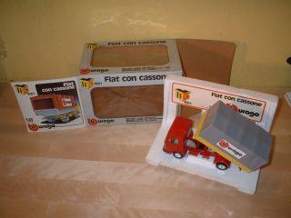 BURAGO TONS 1501 FIAT CON CASSONE SCALA 1/43 CON SCATOLA BOX