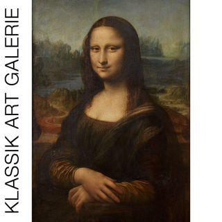 LEONARDO DA VINCI Mona Lisa 50x70cm BILD LEINWAND DRUCK