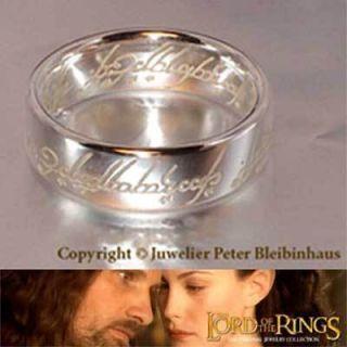 HERR DER RINGE Schmuck Der Eine Ring Silber 925 poliert