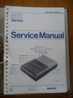 Service Manual Philips N 2234 Cassetten Record,ORIGINAL