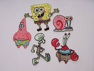 Spongebob Patrick Garry Bügelbild Aufnäher f Hose Jacke