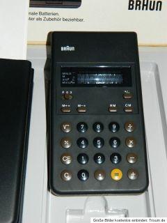 Braun Calculator Taschenrechner Type 4955 / ET 22 NEU / NEW