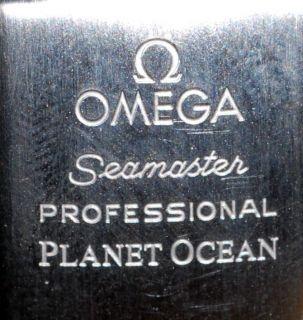 Original OMEGA Seamaster Planet Ocean Stahlarmband Faltschliesse