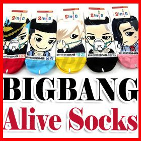 BIGBANG   Alive Ver. 5 Pairs Of Women Socks [ All Members ]
