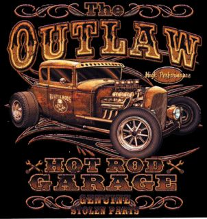 Shirt Outlaw Hot Rod Kustom Speed Shop Vintage Rockabilly Rockn