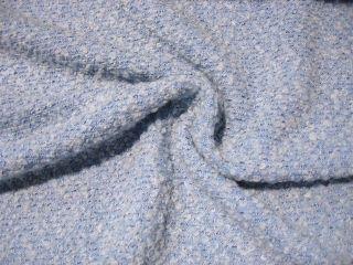 Boucle Stoff Grob Gewebt Hell Blau Top Jacke Shirt 932
