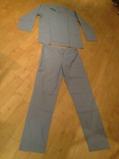 Original Schlafanzug Größe 58 NEU Pyjama Jacke + Hose 100% Baumwolle