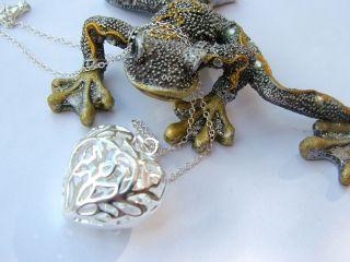 Traumhafte Silver ART Jugendstil 925 Silber Kette *BIG LOVE*♥Herz