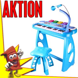 ROCK STAR Kinder Keyboard mit Hocker und Mikrofon