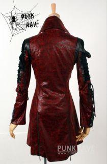 Fashion Gothic Visual kera Punk Rave rock red Unisex Blazer jacket