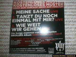 Broilers Promo CD 3 Tracks selten Neu &Unbenutzt Punk Rock Hosen