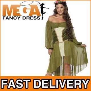 Damen Kostüm Mittelalter Maid Marion Robin Hood Jungfer Erwachsenen