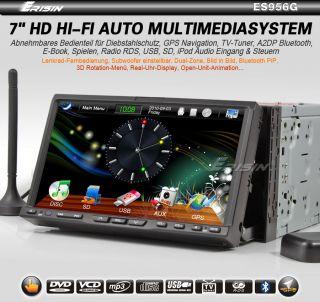 ES956DE 7 2 Din HD Car DVD Player GPS Navigation IPOD TV Autoradio