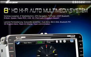 ES958GE 8 HD Autoradio Car DVD Player GPS IPOD TV PiP VW PASSAT SKODA