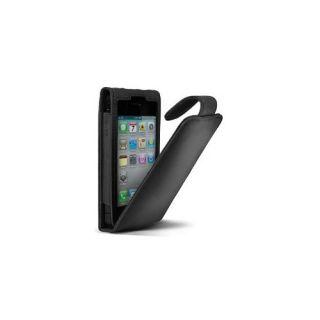 Premium Leder Hülle Zum Aufklappen Für Apple iPhone 4S Schwarz