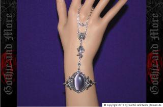 Sklaven Armband Glasstein Gothic steampunk victorian slave bracelet