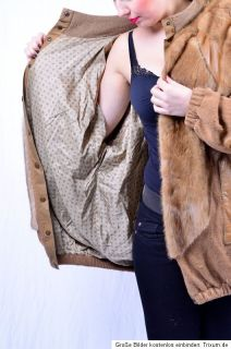 NERZJACKE Strickjacke MINK fur jacket Nerz nerzmantel Pelzjacke vison