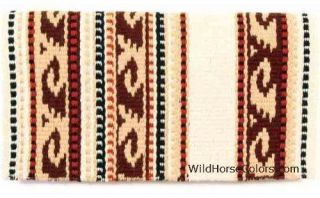 Brown/Tan Mayatex Delmar Western Saddle Blanket Pad 36 x 34 NEW Del