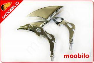 Universal Spiegel für Motorrad ATV Quad Scoter Roller Chrom 963